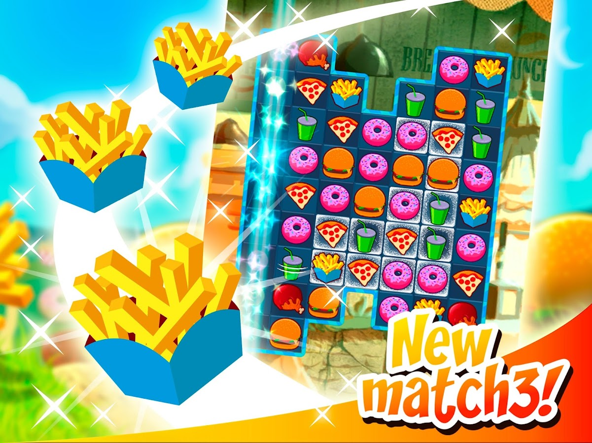 Super Burger Match3 HD- screenshot