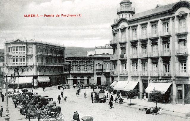 Postal de Puerta de Purchena hacia 1913. Colección Narciso Espinar