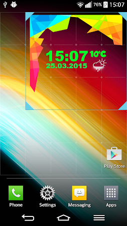 Neon Digital Weather Clock 2.0 screenshot 1039296