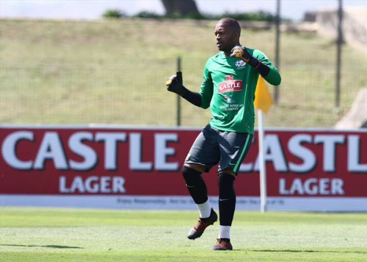 Itumeleng Khune during the South African national mens soccer team training session at Princess Magogo Stadium on September 04, 2018 in Durban, South Africa.