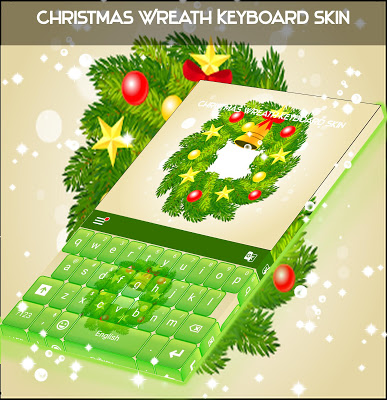 Christmas Wreath Keyboard Skin - screenshot