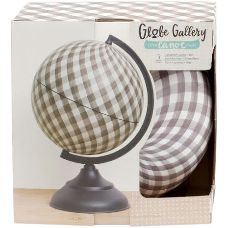 One Canoe Two Globe Gallery Globe 8inch - Gingham/Black Base UTGÅENDE