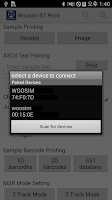 Screenshot of Woosim BT printer