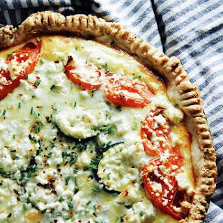 Heirloom Tomato + Zucchini Quiche.