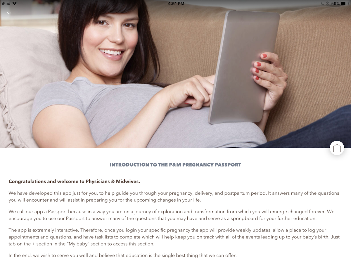 Pregnancy Passport from P&M- screenshot