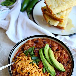 Quinoa Chili with JalapeñO Cheddar Cornbread Recipe