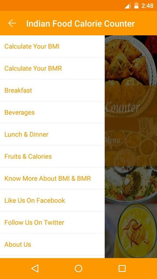 Calculate Food Calories Indian