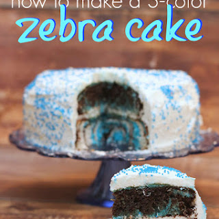 How To Make a 3-Color Zebra Cake.