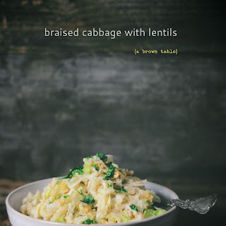 Braised Cabbage With Lentils.