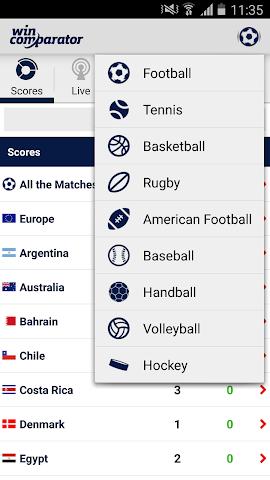 android Score en Direct et Cotes Screenshot 6