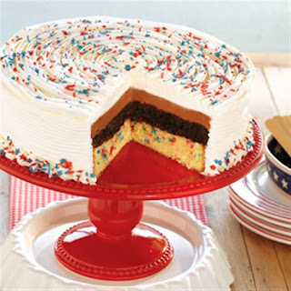 Funfetti® Stars and Stripes® Ice Cream Cake.