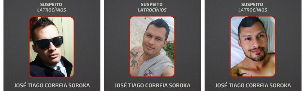 Polícia Civil estava divulgando cartazes com foto do suspeito — Foto: Polícia Civil