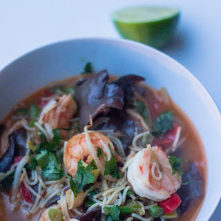 Oriental Soup with Mushrooms and Shrimp
