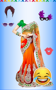 Women Fashion Saree Photo Montage - Photo Editor - náhled