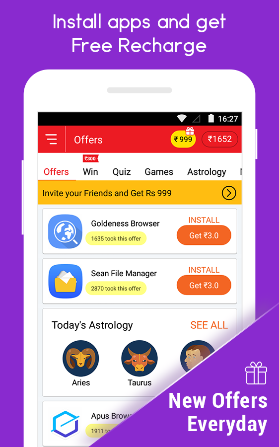 Free Recharge App CashNinja- screenshot