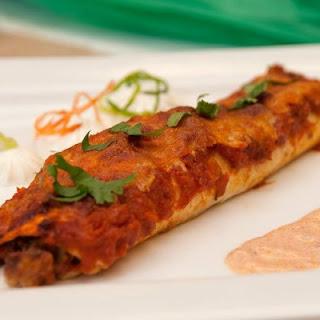 Black Bean Seafood Enchiladas.