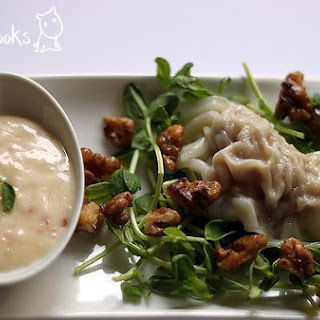 Sui Kow (Dumplings) With Qpc Wasabi Mayo Red Pepper Sauce