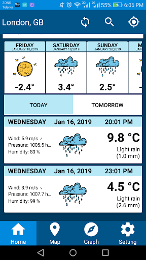 Screenshot for Weather Report 2019 Free Weather Forecast App in United States Play Store
