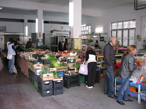 Photo: Taormina's covered market, Saturday morning