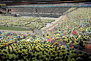 The National Day of Prayer held at FNB Stadium yesterday was organised by the Motsepe Foundation.