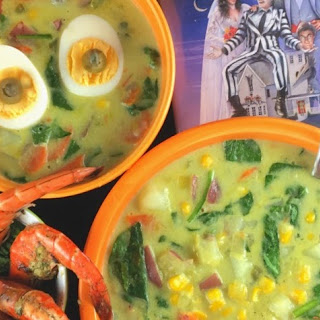 Ghoulish Green Curry Veggie Chowder