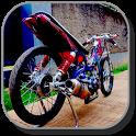 Design Motorcycle Drag Racing icon