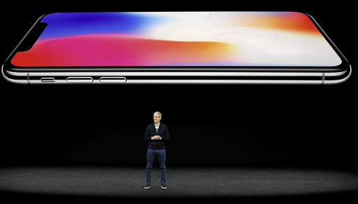 Apple CEO Tim Cook speaks about the iPhone X during a launch event in Cupertino, California, US, on September 12 2017. Picture: REUTERS