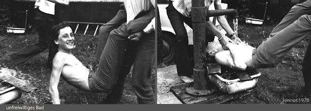 Photo: boy jokes - old water pump