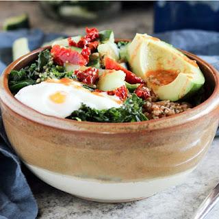 Savory Miso Kale Breakfast Bowls.