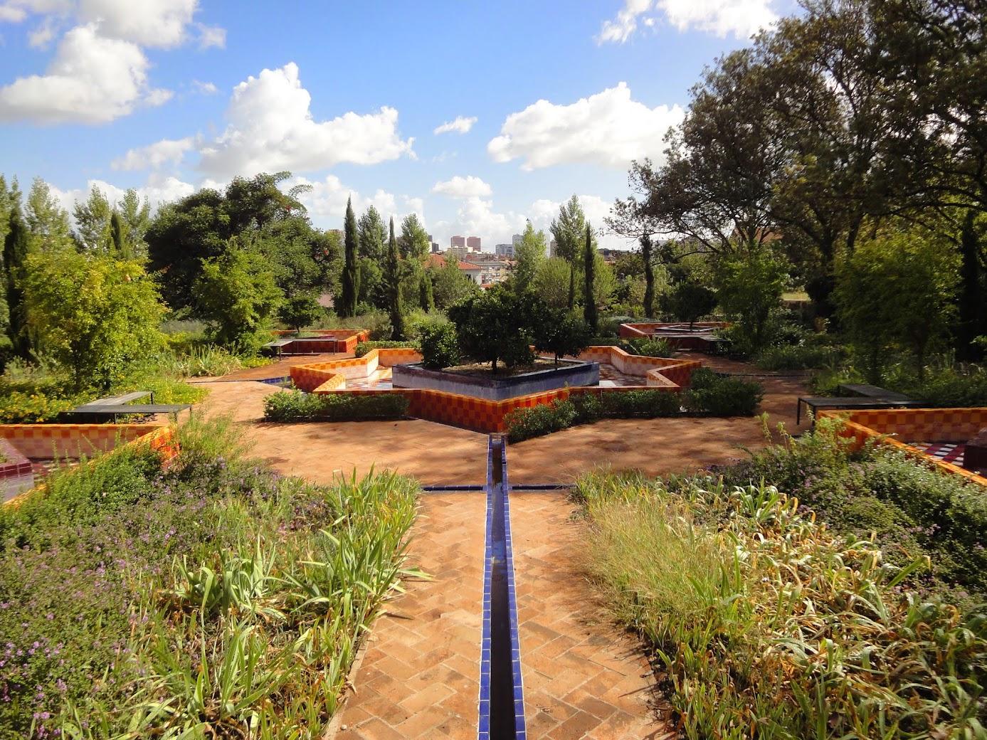 Jardin du Palais des marquis de Fronteira à Lisbonne