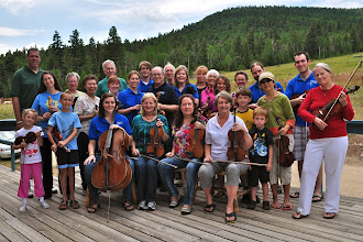 Photo: Campers and students at the Rolland Fiddle Camp, 2011