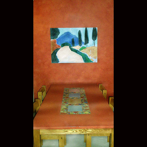 Photo: Glazed Walls and Tables, Mosaic Table/ Will Wieber