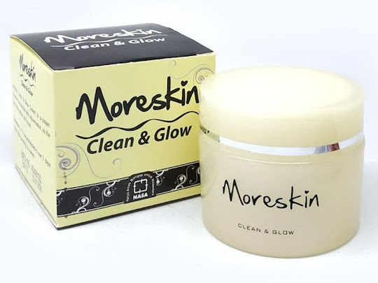 Moreskin Clean and Glow NASA original cream glowing nasa mencerahkan memutihkan kulit wajah alami