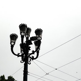 Street Lamp by John Noone - Artistic Objects Other Objects ( sky, lamps, urban, street lamp, street lights, city, street, city scene, street lamps, street photography )