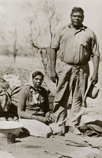 Albert and his wife Rubina, Macdonnell Ranges