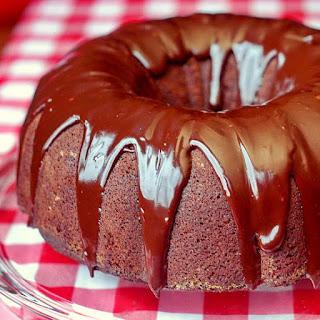 Ginger Bundt Cake with Chocolate Nutmeg Ganache Glaze.