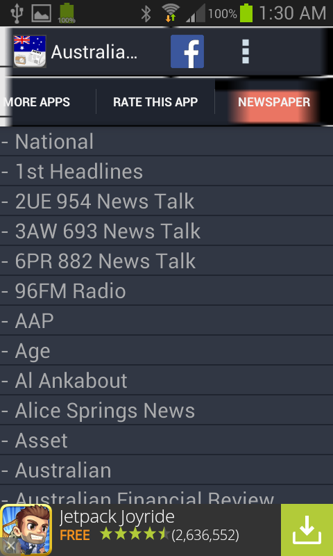Australia Radio News- screenshot
