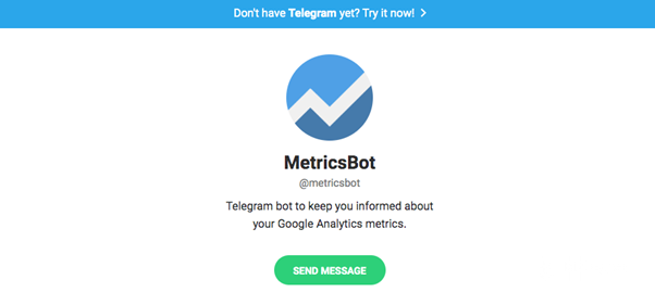 Metrics bot allows you to integrate with your company's Google Analytics platform. You can easily access the platform to check the latest changes in the data collected.