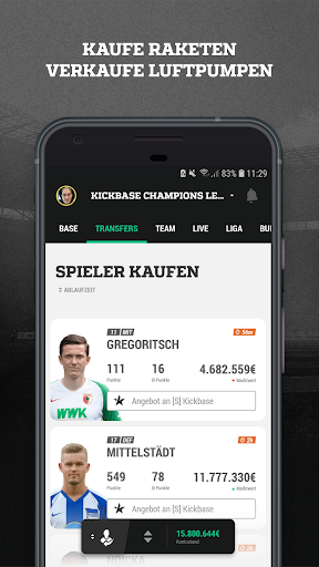 Kickbase Bundesliga Manager apktram screenshots 2