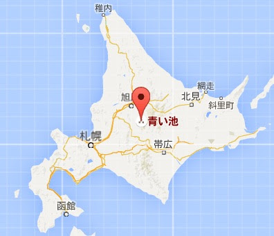 地図:青い池