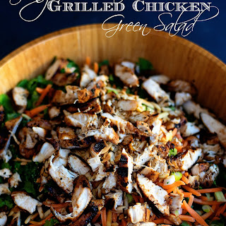 Ginger Sesame Grilled Chicken Green Salad.