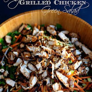 Ginger Sesame Grilled Chicken Green Salad.