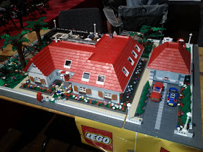 """Photo: Very detailed """"modern house"""". Lots of interior that was impossible to photograph."""