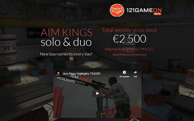 Daily CSGO tournaments - 121GameOn