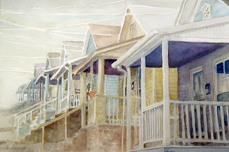 Photo: Porches of Citico Street . watercolor . 16x20