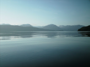 Photo: June 11 - A very calm morning on Douglas Channel. Hawkesbury Island is to the far left with Gribbell Island farther back on the right.