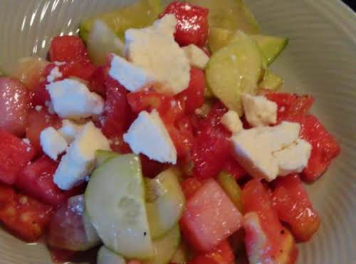 "Watermelon Summer Salad ""This was a big hit at our end of..."