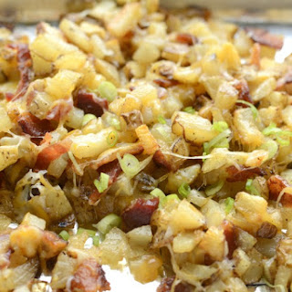 Crispy Oven Potatoes with cheese and bacon