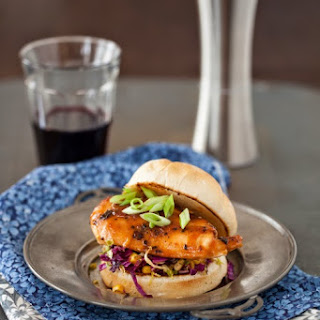Honey Glazed Roasted Chicken Sandwich with Cabbage & Corn Salad