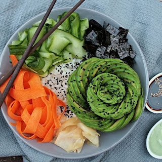 Sushi Bowl with Avocado.